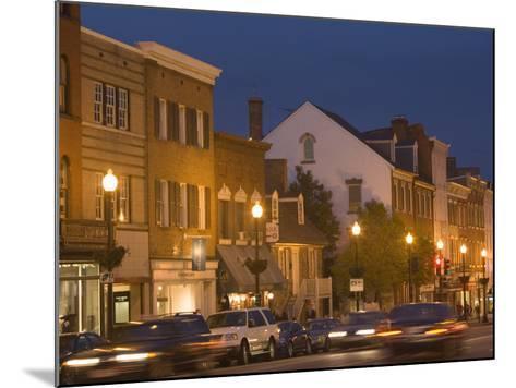 M Street Northwest At Dusk, Georgetown, Washington D.C., USA-John & Lisa Merrill-Mounted Photographic Print