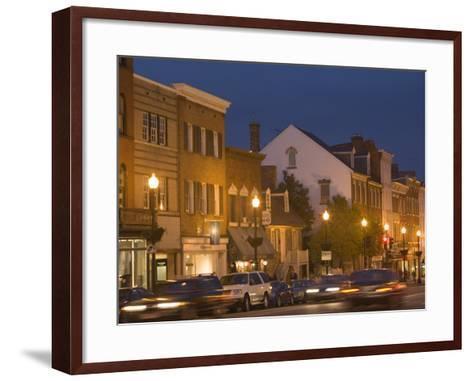 M Street Northwest At Dusk, Georgetown, Washington D.C., USA-John & Lisa Merrill-Framed Art Print