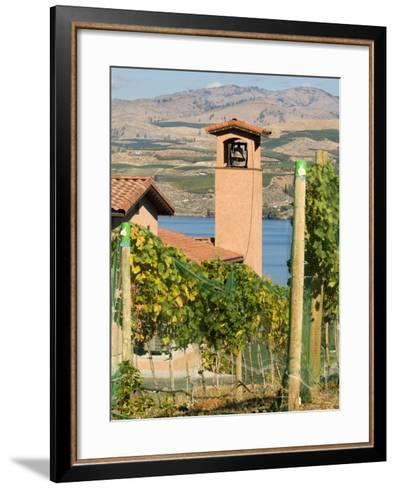 Mountains and Lake Chelan, Columbia Valley Appellation, Washington, USA-Janis Miglavs-Framed Art Print