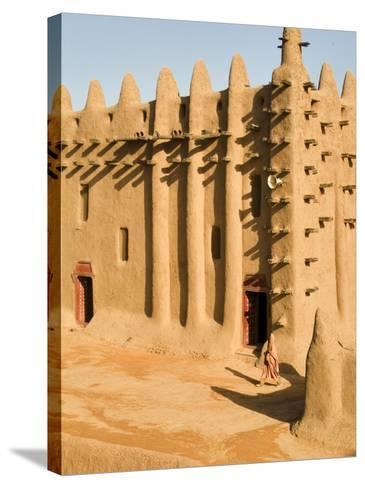 Mosque at Djenne, the largest mud-brick building in the world, Mali, West Africa-Janis Miglavs-Stretched Canvas Print