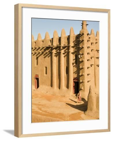 Mosque at Djenne, the largest mud-brick building in the world, Mali, West Africa-Janis Miglavs-Framed Art Print