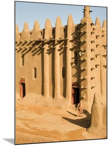Mosque at Djenne, the largest mud-brick building in the world, Mali, West Africa-Janis Miglavs-Mounted Photographic Print