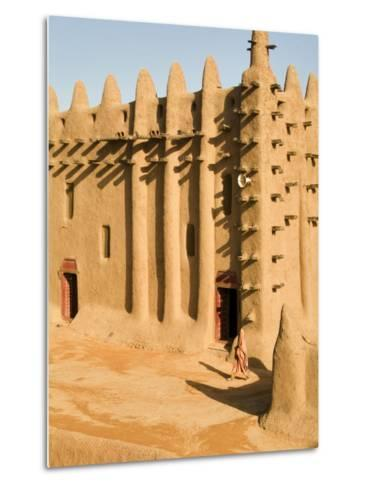 Mosque at Djenne, the largest mud-brick building in the world, Mali, West Africa-Janis Miglavs-Metal Print