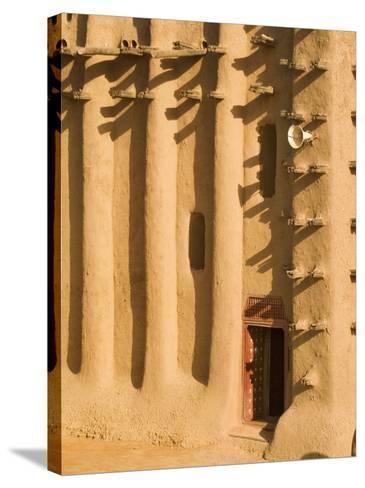Mosque at Djenne, Mali, West Africa-Janis Miglavs-Stretched Canvas Print
