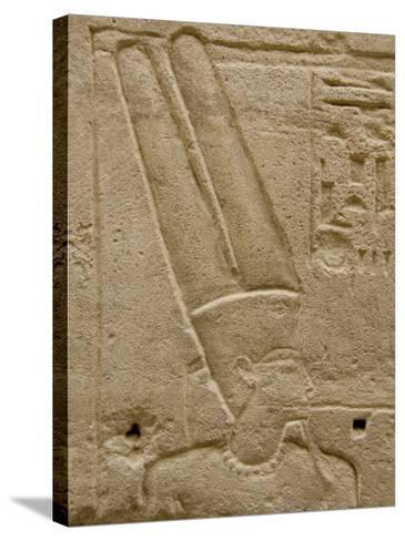 Hieroglyphics detail of Amon, Karnak Temple, East Bank, Luxor, Egypt-Cindy Miller Hopkins-Stretched Canvas Print
