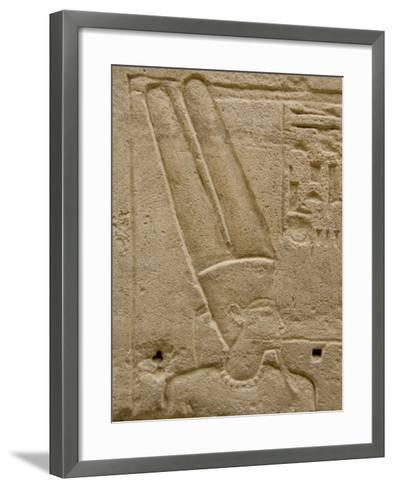 Hieroglyphics detail of Amon, Karnak Temple, East Bank, Luxor, Egypt-Cindy Miller Hopkins-Framed Art Print
