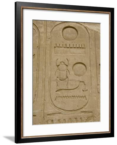 Hieroglyphics detail, Karnak Temple, East Bank, Luxor, Egypt-Cindy Miller Hopkins-Framed Art Print