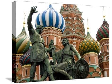 St. Basil's Cathedral, Red Square, Moscow, Russia-Cindy Miller Hopkins-Stretched Canvas Print