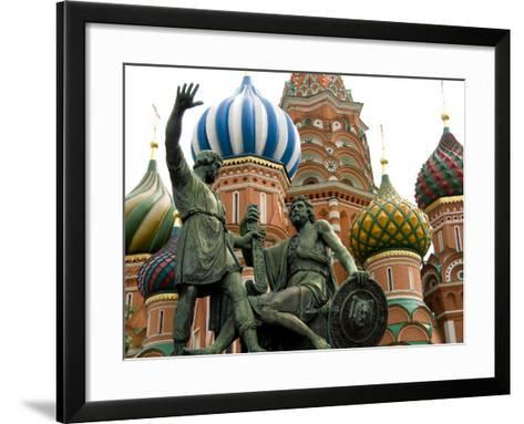 St. Basil's Cathedral, Red Square, Moscow, Russia-Cindy Miller Hopkins-Framed Art Print