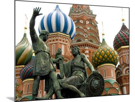 St. Basil's Cathedral, Red Square, Moscow, Russia-Cindy Miller Hopkins-Mounted Photographic Print