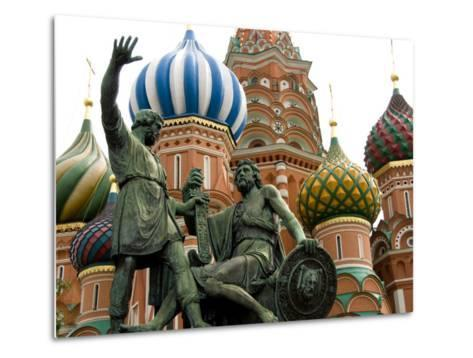 St. Basil's Cathedral, Red Square, Moscow, Russia-Cindy Miller Hopkins-Metal Print