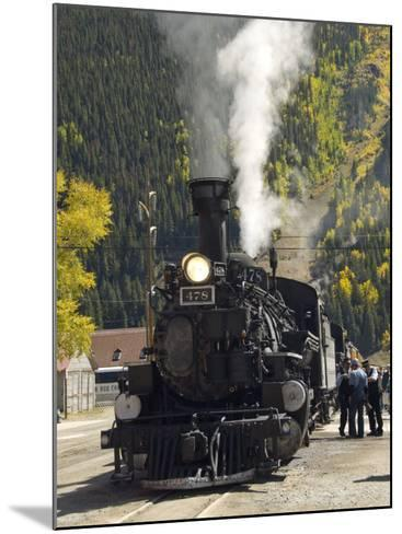 Durango & Silverton Narrow Gauge Railroad, Silverton Station, Colorado, USA-Cindy Miller Hopkins-Mounted Photographic Print