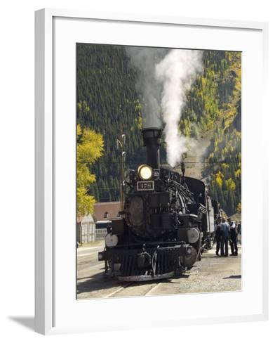 Durango & Silverton Narrow Gauge Railroad, Silverton Station, Colorado, USA-Cindy Miller Hopkins-Framed Art Print
