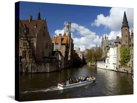 Medieval Architecture along the Canals of Brugge, Belgium-Cindy Miller Hopkins-Stretched Canvas Print