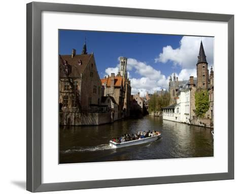 Medieval Architecture along the Canals of Brugge, Belgium-Cindy Miller Hopkins-Framed Art Print