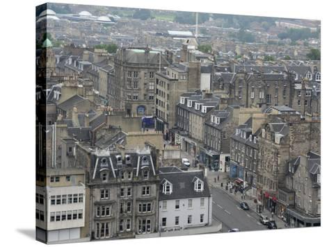 New Town from Edinburgh Castle, Scotland-Cindy Miller Hopkins-Stretched Canvas Print