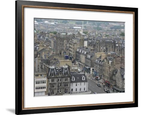 New Town from Edinburgh Castle, Scotland-Cindy Miller Hopkins-Framed Art Print