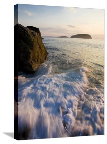 Early morning surf in Frenchman Bay, Acadia National Park, Maine, USA-Jerry & Marcy Monkman-Stretched Canvas Print