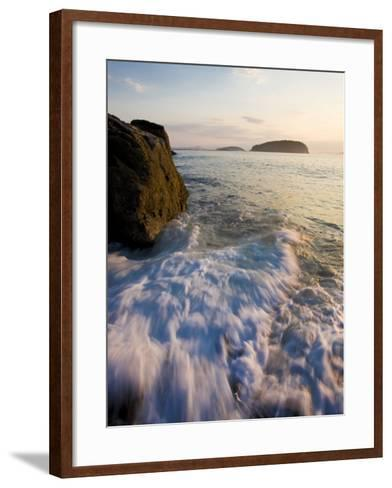 Early morning surf in Frenchman Bay, Acadia National Park, Maine, USA-Jerry & Marcy Monkman-Framed Art Print
