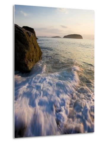 Early morning surf in Frenchman Bay, Acadia National Park, Maine, USA-Jerry & Marcy Monkman-Metal Print