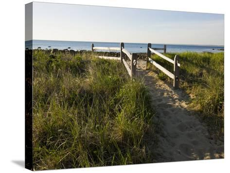 Beach Path at the Center Hill Preserve, Plymouth, Massachusetts, USA-Jerry & Marcy Monkman-Stretched Canvas Print