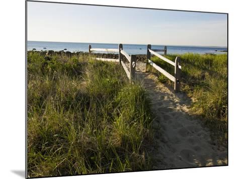 Beach Path at the Center Hill Preserve, Plymouth, Massachusetts, USA-Jerry & Marcy Monkman-Mounted Photographic Print