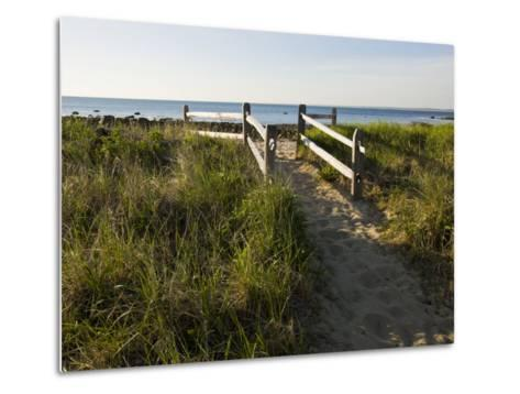Beach Path at the Center Hill Preserve, Plymouth, Massachusetts, USA-Jerry & Marcy Monkman-Metal Print
