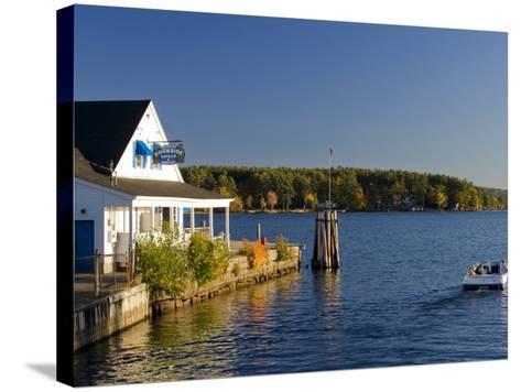 Wolfeboro Dockside Grille on Lake Winnipesauke, Wolfeboro, New Hampshire, USA-Jerry & Marcy Monkman-Stretched Canvas Print