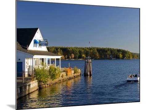 Wolfeboro Dockside Grille on Lake Winnipesauke, Wolfeboro, New Hampshire, USA-Jerry & Marcy Monkman-Mounted Photographic Print