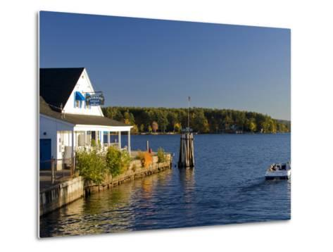 Wolfeboro Dockside Grille on Lake Winnipesauke, Wolfeboro, New Hampshire, USA-Jerry & Marcy Monkman-Metal Print