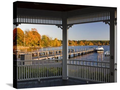 View of Lake Winnipesauke, Wolfeboro, New Hampshire, USA-Jerry & Marcy Monkman-Stretched Canvas Print