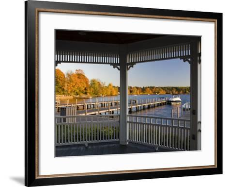 View of Lake Winnipesauke, Wolfeboro, New Hampshire, USA-Jerry & Marcy Monkman-Framed Art Print