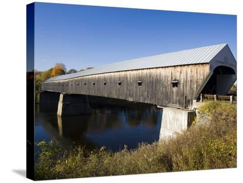 The Windsor Cornish Covered Bridge, Connecticut River, New Hampshire, USA-Jerry & Marcy Monkman-Stretched Canvas Print