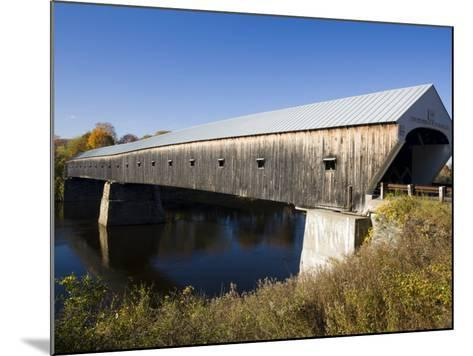 The Windsor Cornish Covered Bridge, Connecticut River, New Hampshire, USA-Jerry & Marcy Monkman-Mounted Photographic Print