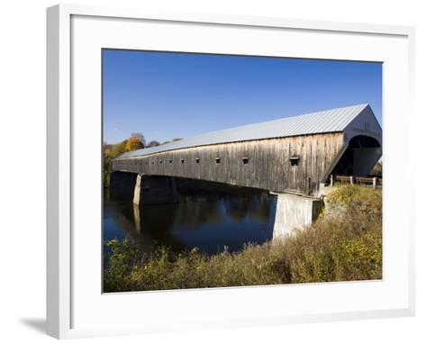 The Windsor Cornish Covered Bridge, Connecticut River, New Hampshire, USA-Jerry & Marcy Monkman-Framed Art Print