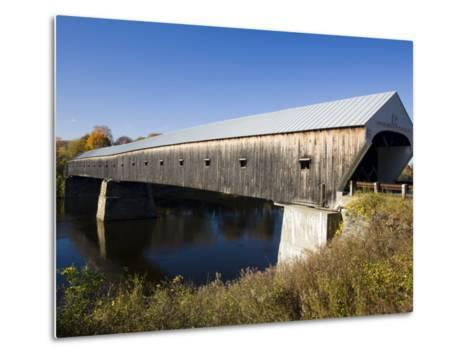 The Windsor Cornish Covered Bridge, Connecticut River, New Hampshire, USA-Jerry & Marcy Monkman-Metal Print