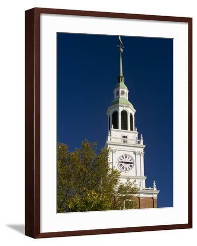 Baker Hall on the Dartmouth College Green in Hanover, New Hampshire, USA-Jerry & Marcy Monkman-Framed Art Print