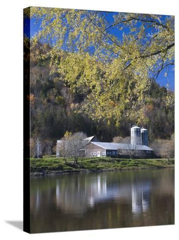 A farm on the Connecticut River in Maidstone, Vermont, USA-Jerry & Marcy Monkman-Stretched Canvas Print