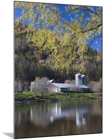 A farm on the Connecticut River in Maidstone, Vermont, USA-Jerry & Marcy Monkman-Mounted Photographic Print