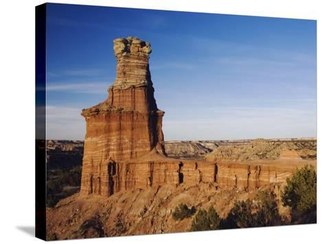 Lighthouse at Sunset, Palo Duro Canyon State Park, Canyon, Panhandle, Texas, USA-Rolf Nussbaumer-Stretched Canvas Print