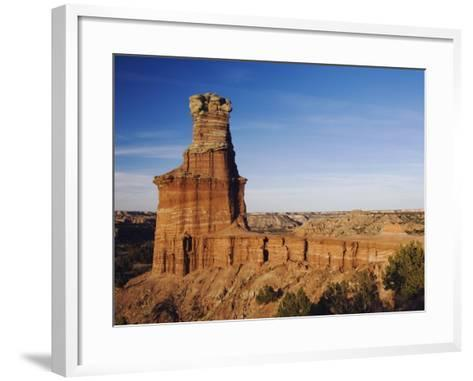 Lighthouse at Sunset, Palo Duro Canyon State Park, Canyon, Panhandle, Texas, USA-Rolf Nussbaumer-Framed Art Print