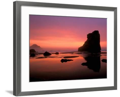 Oregon Coast at Sunset, USA-Marilyn Parver-Framed Art Print