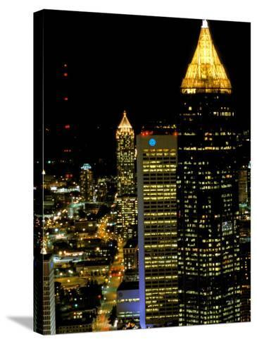 Southern Bell Building at Night, Atlanta, Georgia, USA-Marilyn Parver-Stretched Canvas Print