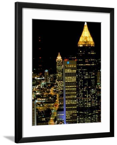 Southern Bell Building at Night, Atlanta, Georgia, USA-Marilyn Parver-Framed Art Print