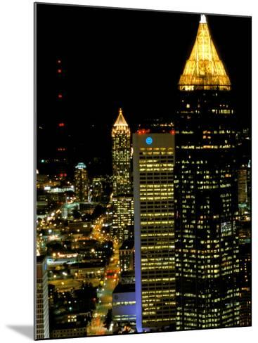 Southern Bell Building at Night, Atlanta, Georgia, USA-Marilyn Parver-Mounted Photographic Print