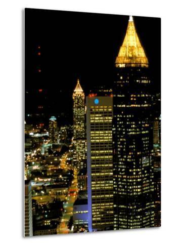 Southern Bell Building at Night, Atlanta, Georgia, USA-Marilyn Parver-Metal Print