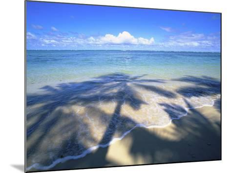 Beach with palm shadow-Douglas Peebles-Mounted Photographic Print