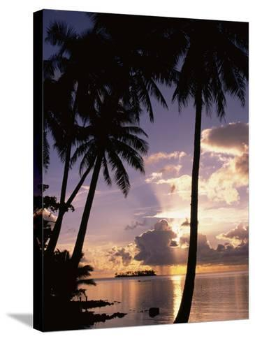 Sunset, Moorea, French Polynesia-Douglas Peebles-Stretched Canvas Print