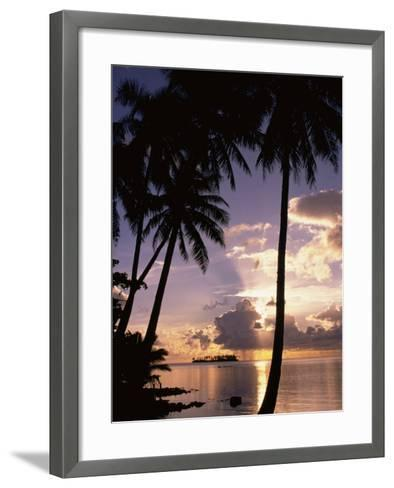 Sunset, Moorea, French Polynesia-Douglas Peebles-Framed Art Print
