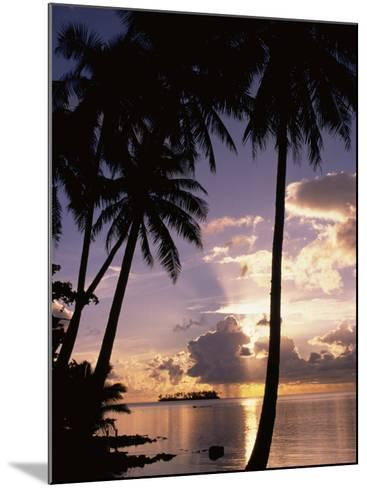 Sunset, Moorea, French Polynesia-Douglas Peebles-Mounted Photographic Print